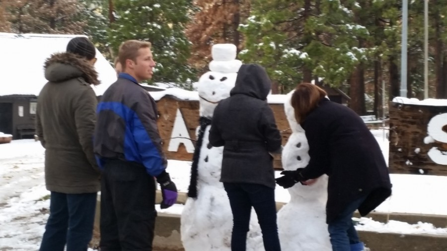 Snowman Building during Thanksgiving, 2015 at Camp Sierra